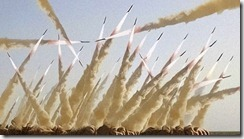 iranian salvo launch